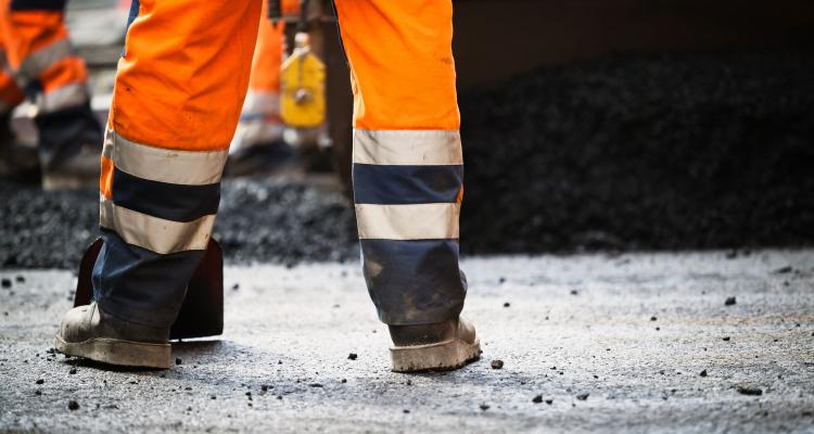 Travailleur de chantier routier