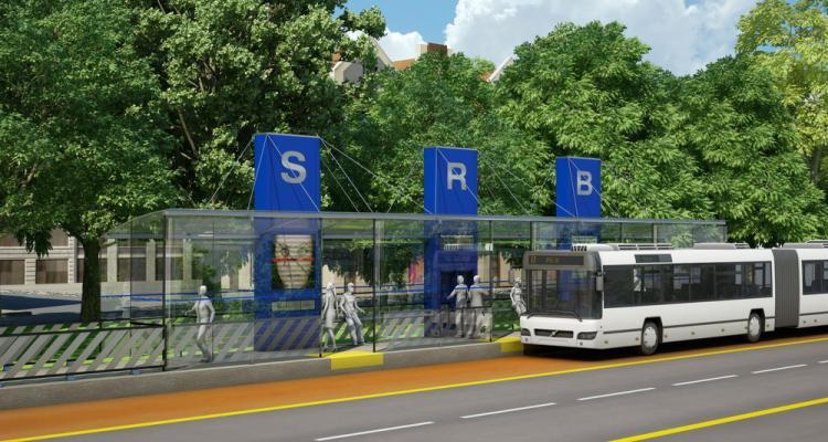 Future station du SRB sur Pie-IX