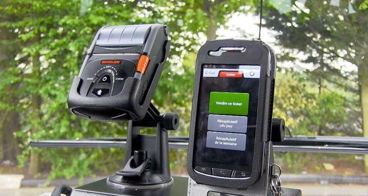 Smartphone et imprimante Ubi transports